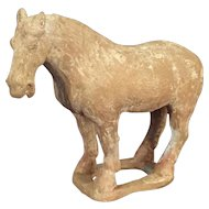 Chinese Tang-Style Pottery Horse