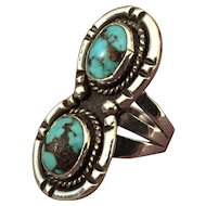 Silver - Turquoise Native American Style Ring