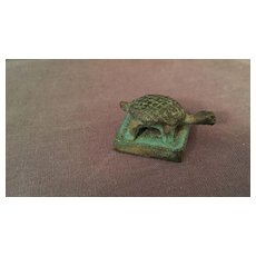 Archaistic Chinese Bronze Turtle Seal