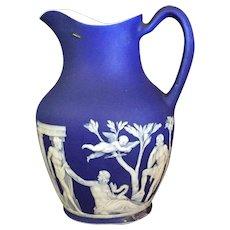 19th Century Wedgwood Blue Jasper Pitcher