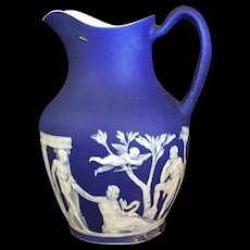 19th Century Wedgwood Blue Jasper Pitcher