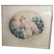 """Louis Icart etching and aquatint """" Hydrangeas"""" signed in pencil"""