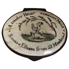 18th Century English Battersea Enamel Patch Box
