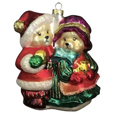 Mr & Mrs Bear Christmas Ornament
