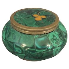 Malachite Box with Flower