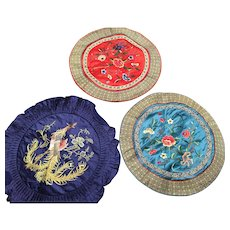 Trio of Chinese Embroideries