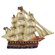 Porcelain Sailing Ship Box