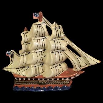 Porcelain Sailing Ship Box