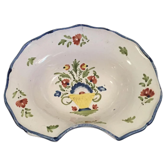 19th C French Faience Barbers Bowl