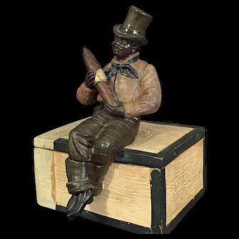 Johann Maresch Black Americana Tobacco-Cigar Box or Humidor
