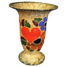 Hearts and Flowers Ceramic Vase