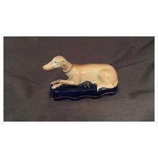 Staffordshire Greyhound Ink Well