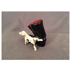 Miniature Cast Iron Boot and a  Dog