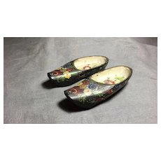 Miniature pair of Wood Shoe or Slippers