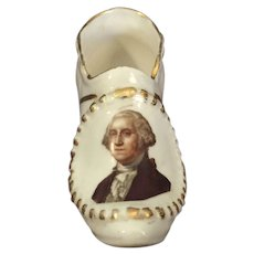 Miniature Porcelain George Washington Shoe