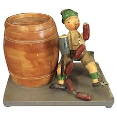 Tyrolean Style Bank with Beer Barrel and Bratwurst