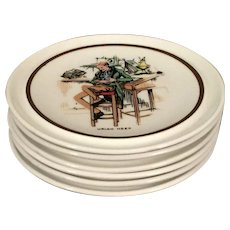 English Porcelain Coasters