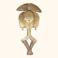 """African Mid Century Bakota Reliquary Guardian  30"""" Tall"""