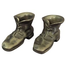 Miniature Pewter Boot or Shoe signed Hudson