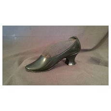 Miniature Slipper Shoe Metal Pin Cushion