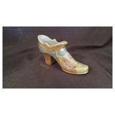 Miniature Lusterware Shoe or Slipper