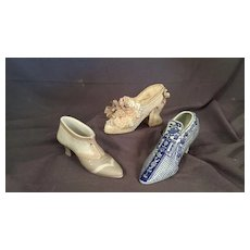 Trio of Small  (Miniature) Shoes or Slippers