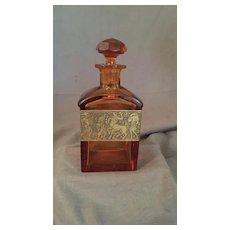Moser Art Deco Crystal Scent Liqueur Liquor Decanter Bottle