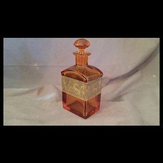 Moser Art Deco Crystal Liqueur Liquor Decanter Scent Bottle