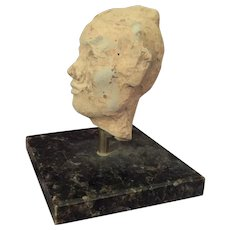 Chinese  Han Dynasty Head on Stand
