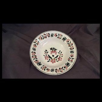 19th Century Delft style Faience Soup Bowl