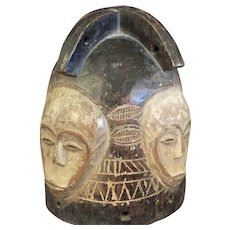 African Fang Style Helmet Mask from Gabon
