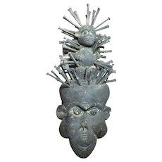 African Fetish Type Monkey Mask
