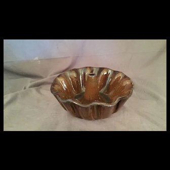 Ceramic Brown glazed Aspic/Mold