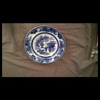 English Antique Fo-Blue Plate