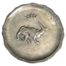 19th Century French Pewter Charger