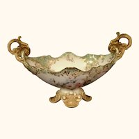 Exquisite 19th Century Floral Royal Doulton Centerpiece .  15' long