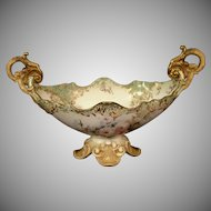 19th Century Doulton Centerpiece or Bowl with Roses