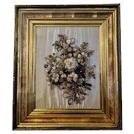 19th Century Hair Art Floral