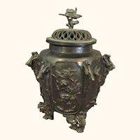 Bronze covered Jar or Sensor