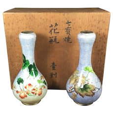 Antique Ginbari Vases from Japan