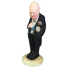 "Small Ceramic Winston Churchill Figure 7  1/2"" tall"