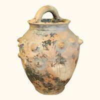 "Unglazed Pottery Vessel or Vase  9  1/2"" High"
