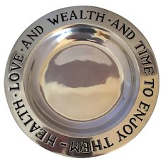 Love and Health and Wealth Plate