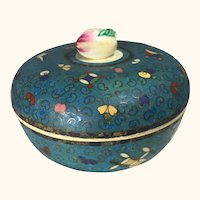 """Rare Antique Japanese Cloisonne on Porcelain Bowl 5"""" D"""