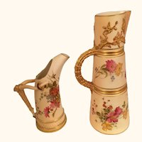 19th Century Royal Worcester Ewer and Claret Jug