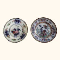 "19th Century English Fo Type Plates  10"" D"