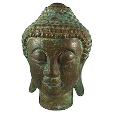 "Chinese Bronze Buddha Verdigris Finish 10 "" Tall"