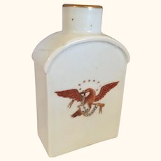 """Chinese Porcelain Export Eagle Tea Caddy / Flask  5""""  Tall"""
