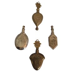 Four Persian Perfume Vials/ Bottles/Chatelaine