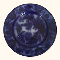 "19th Century English Flo Blue Plate 8  1/2"" D"